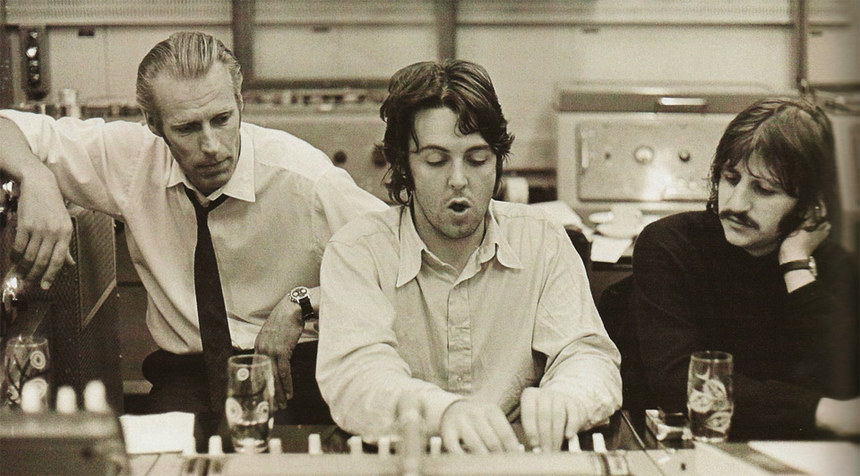 George with Paul and Ringo - Abbey Road Studio 2
