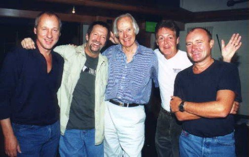 Mark Knopfler, Eric Clapton, George Martin, Paul McCartney and Phil Collins